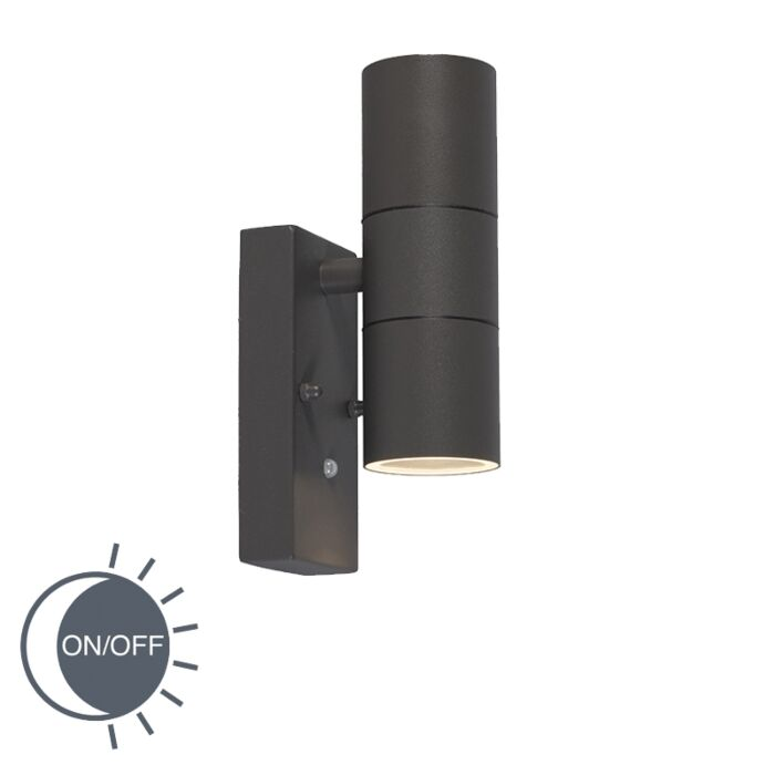 Wall-Lamp-Duo-Dark-Grey-with-Twilight-Switch