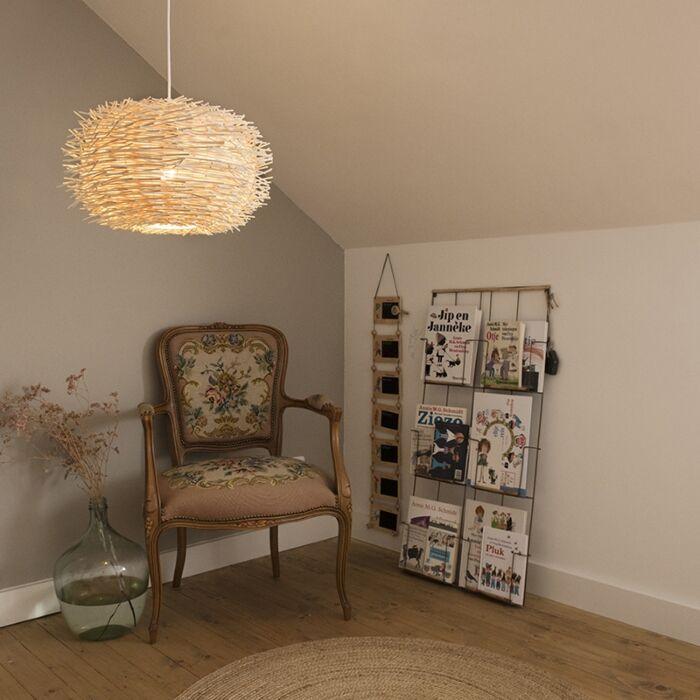 Rural-hanging-lamp-white-rattan---Hatch-45