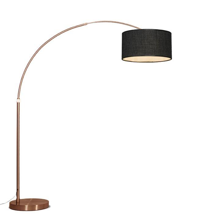 Arc-Lamp-XXL-Copper-with-Dark-Grey-Shade