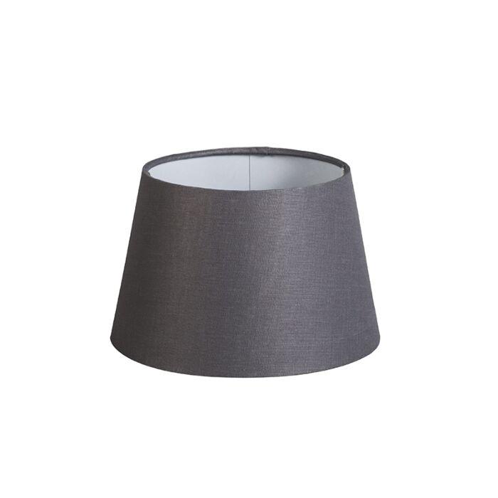 Shade-Round-20cm-DS-E27-Linen-Dark-Grey