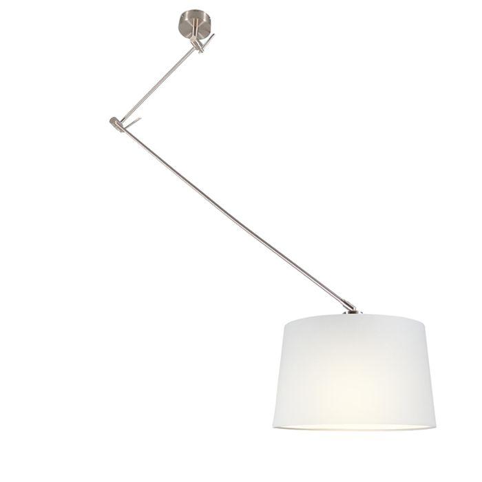Pendant-Lamp-Blitz-Steel-with-Shade-White-40cm