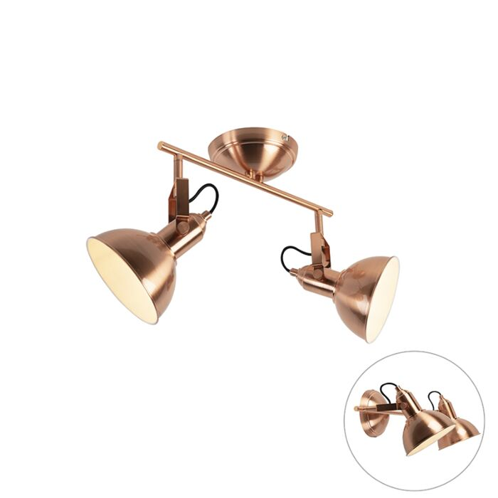 Wall-and-ceiling-light-copper-2-light-swivel-and-tilt---Tommy