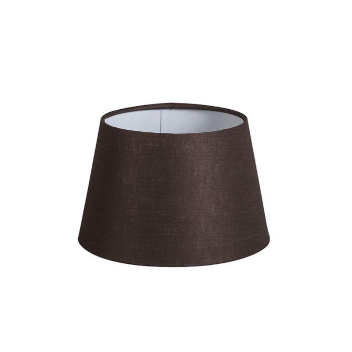 Shade-Round-20cm-DS-E27-Linen-Brown