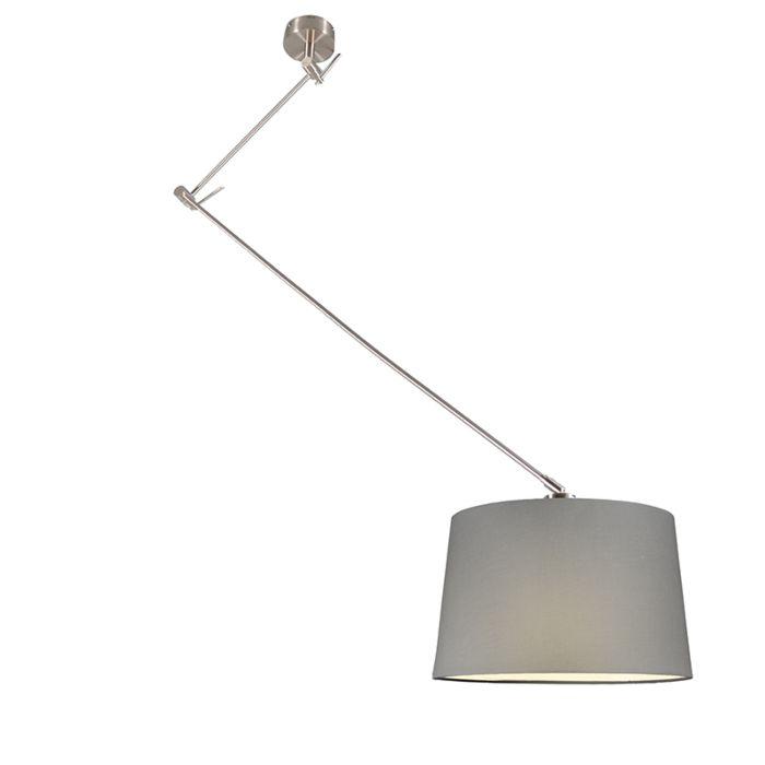 Pendant-Lamp-Blitz-Steel-with-Shade-Grey-40cm