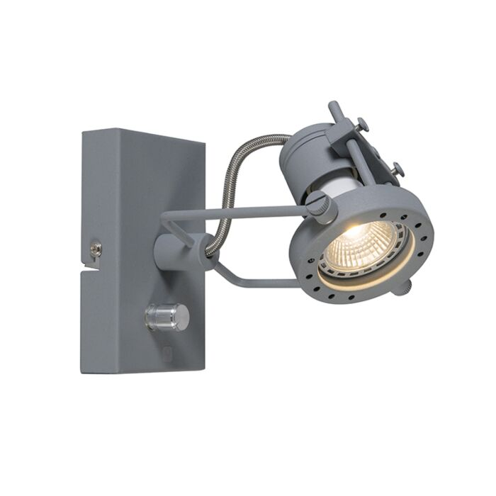 Spotlight-Suplux-1-with-Dimmer-Grey
