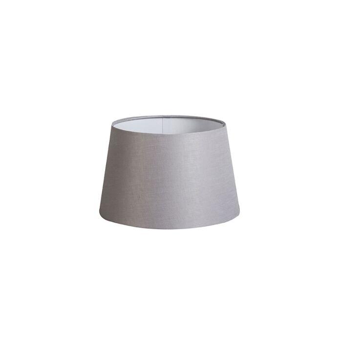 Shade-Round-25cm-DS-E27-Linen-Light-Grey