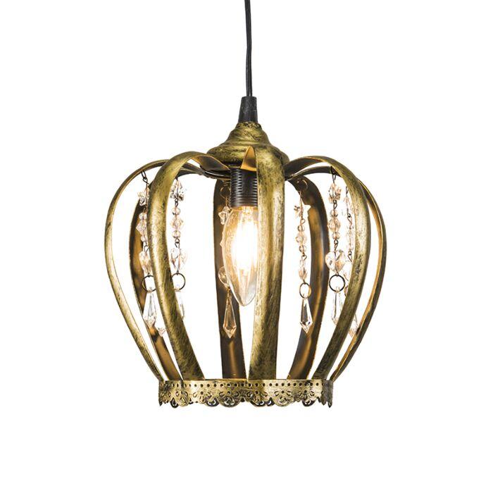 Pendant-Lamp-Crown-Antique-Gold