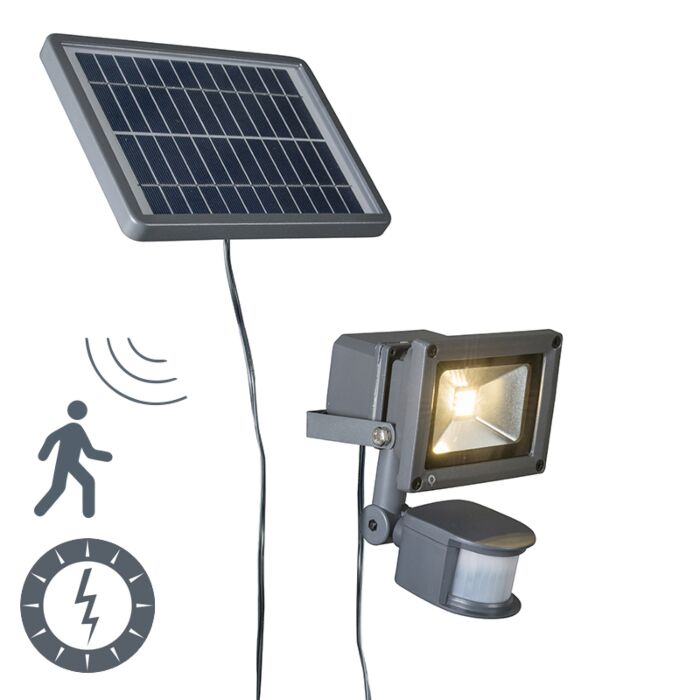 Strain-Spotlight-Solar-LED-Dark-Grey