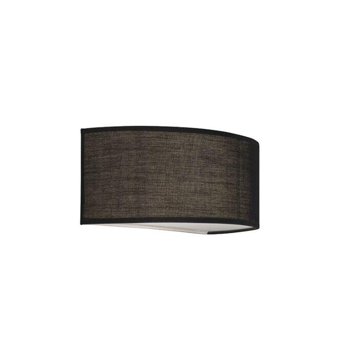 Wall-Lamp-Drum-Basic-Half-Round-Black