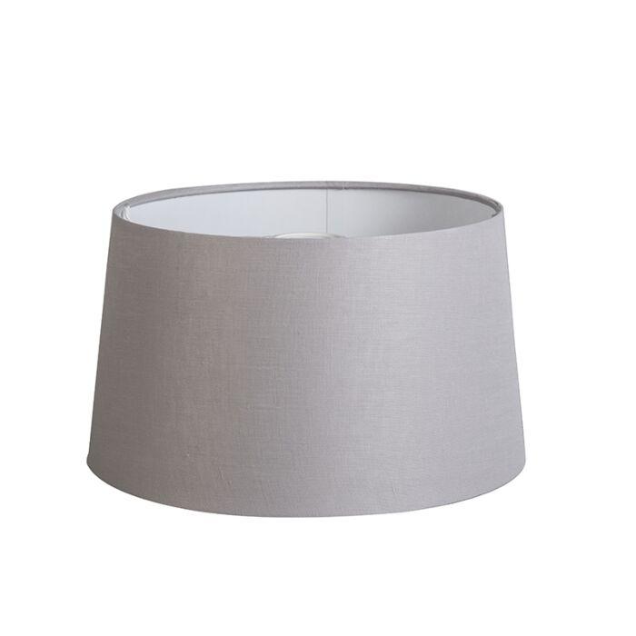 Shade-Round-35cm-DS-E27-Linen-Light-Grey