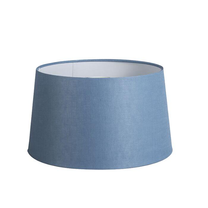 Shade-Round-35cm-DS-E27-Linen-Blue