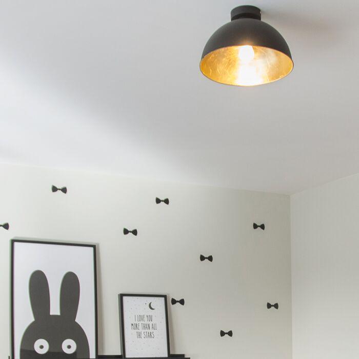 Modern-Round-Ceiling-Lamp-Black---Magna-Basic