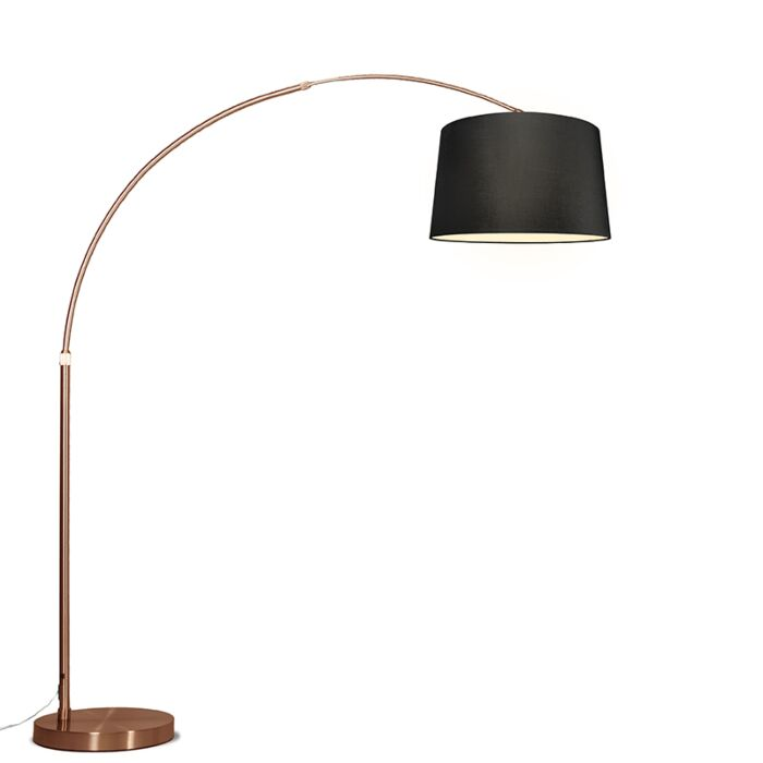 Arc-Lamp-XXL-Copper-with-Black-Shade