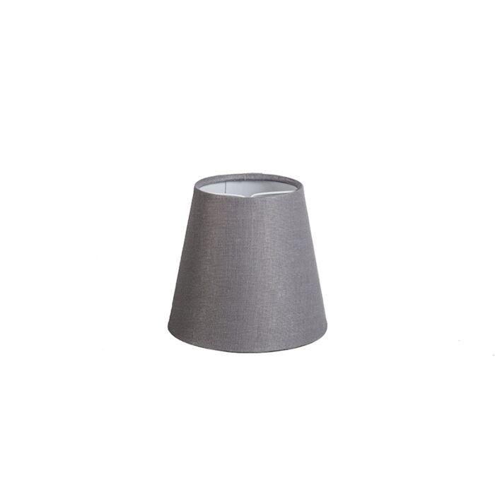 Linen-Clamp-Shade12cm-Grey