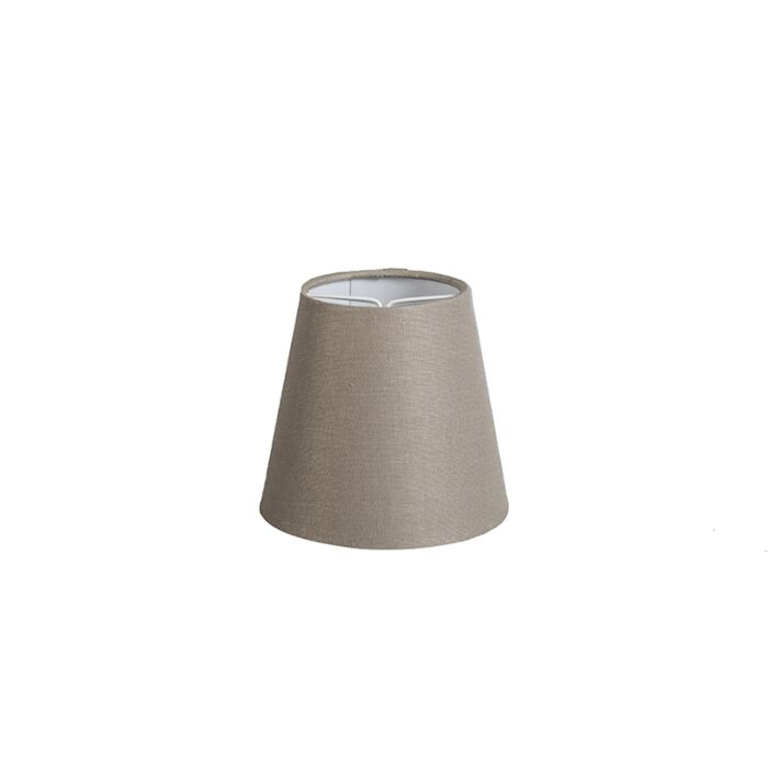 Linen-Clamp-Shade12cm-Taupe
