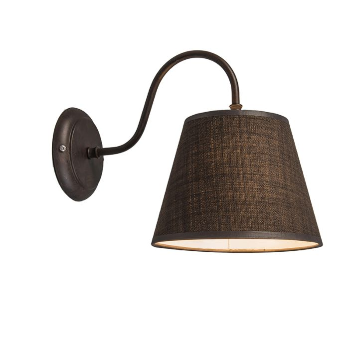 Wall-Lamp-Silea-Down-with-Shade-Brown