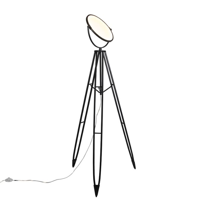 Floor-Lamp-Tripod-Stativ-Black