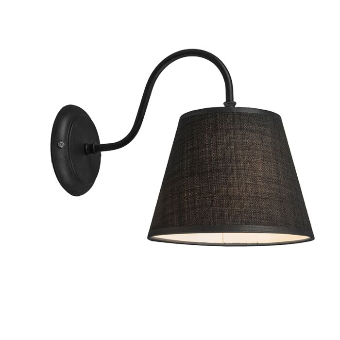 Wall-Lamp-Silea-Down-with-Shade-Black