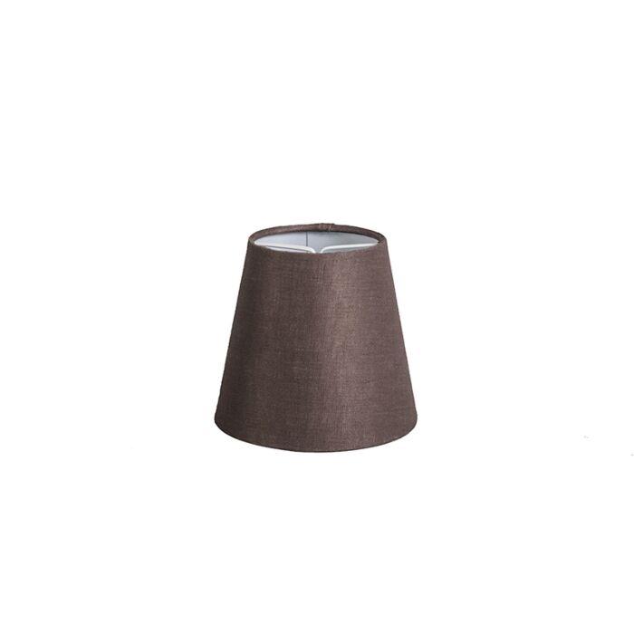 Linen-clamping-cap-brown-12-cm-around