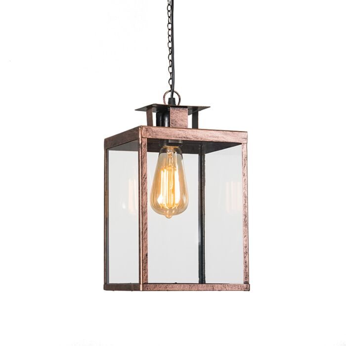 Pendant-Lamp-Lantern-Rust