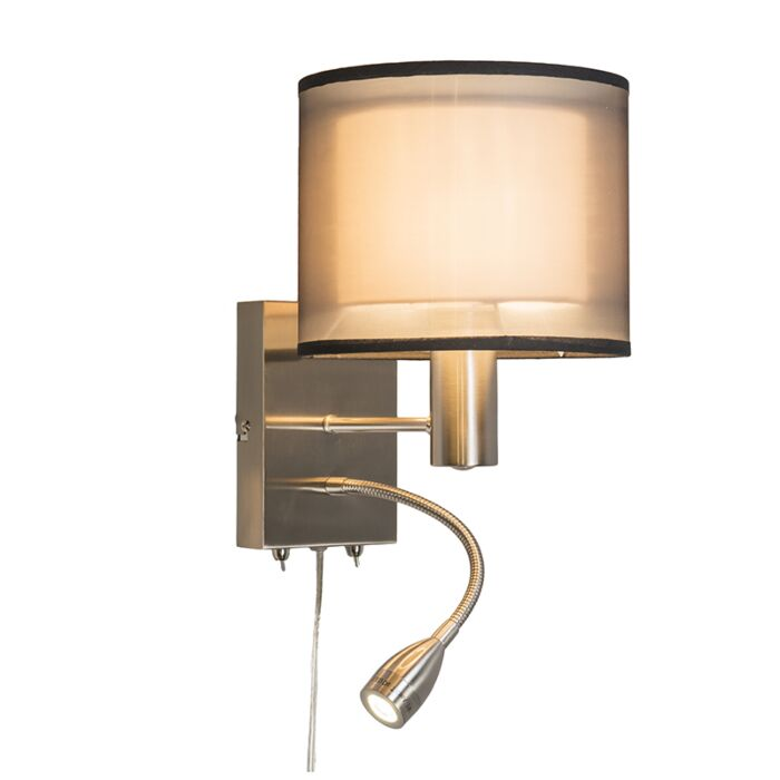 Wall-Lamp-Lseo-with-Shade-and-LED-Reading-Arm