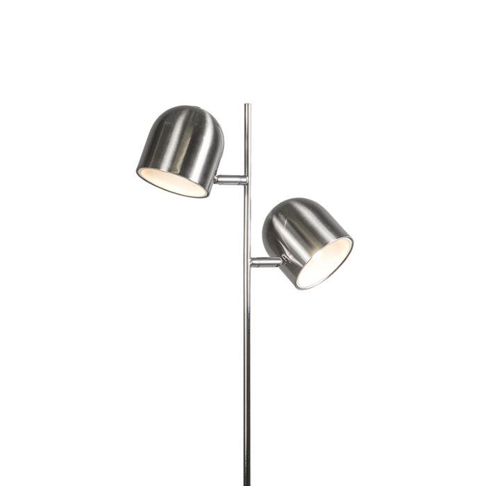 Modern-Floor-Lamp-2-Steel-incl.-LED---Quest