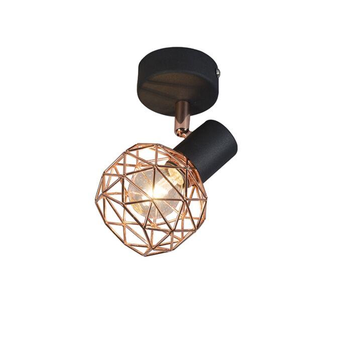 Modern-Spotlight-Copper-with-Black---Mesh-1
