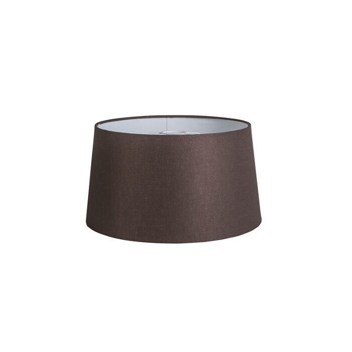 Shade-Round-40cm-DS-E27-Linen-Brown