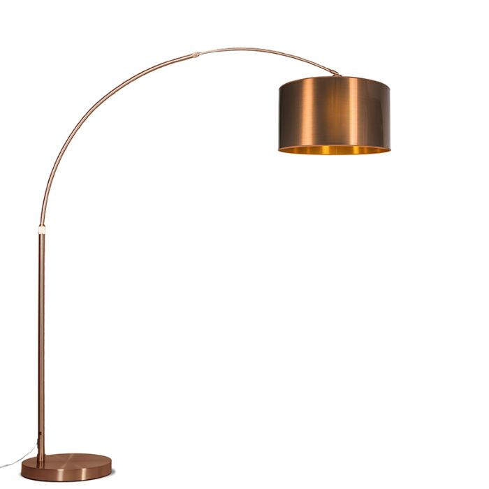 Arc-Lamp-XXL-Copper-with-Copper-Shade