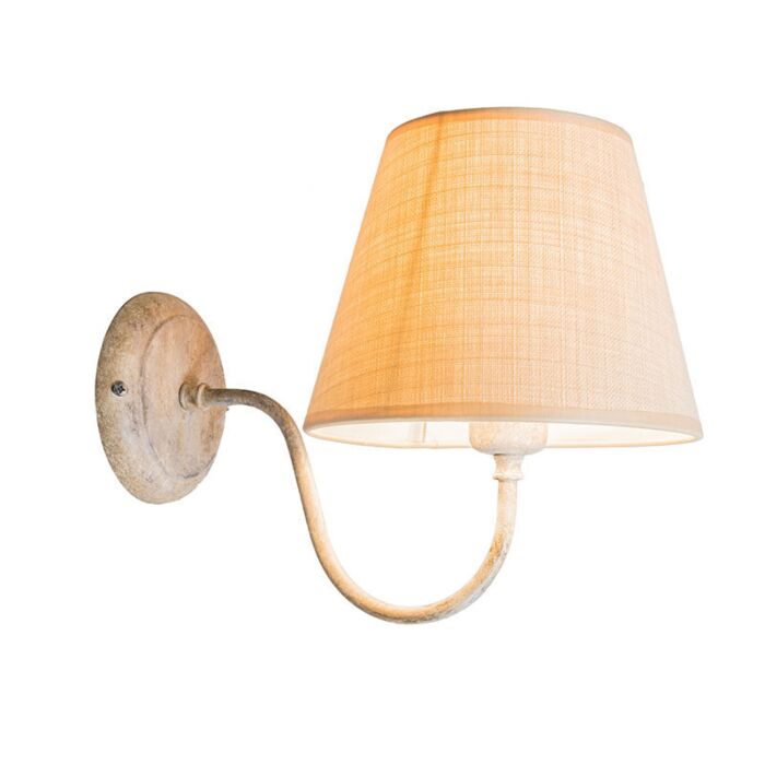 Wall-Lamp-Silea-Up-with-Shade-Taupe