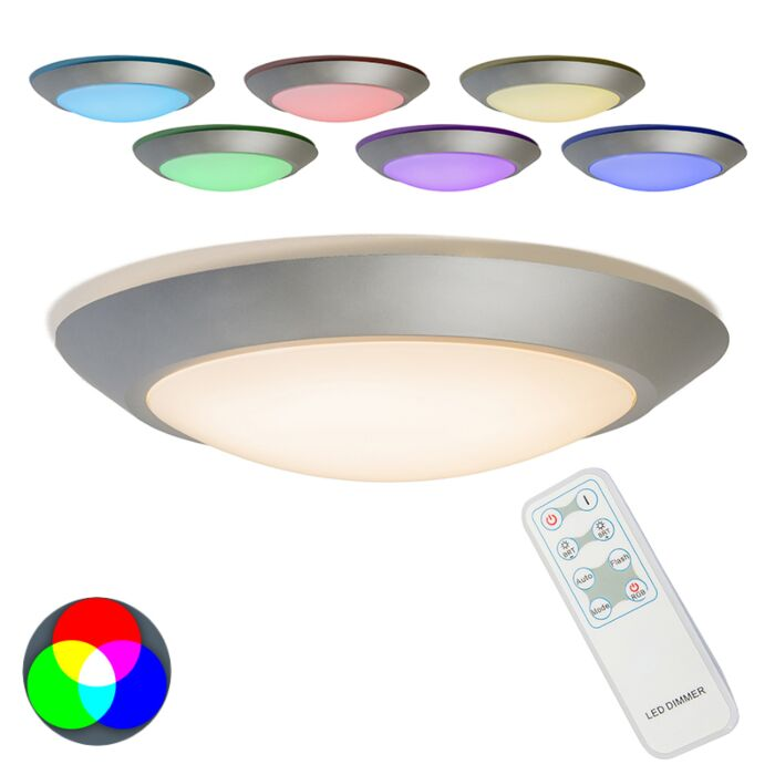 Ceiling-Lamp-Captur-RGB-LED-Grey-with-Remote-Control