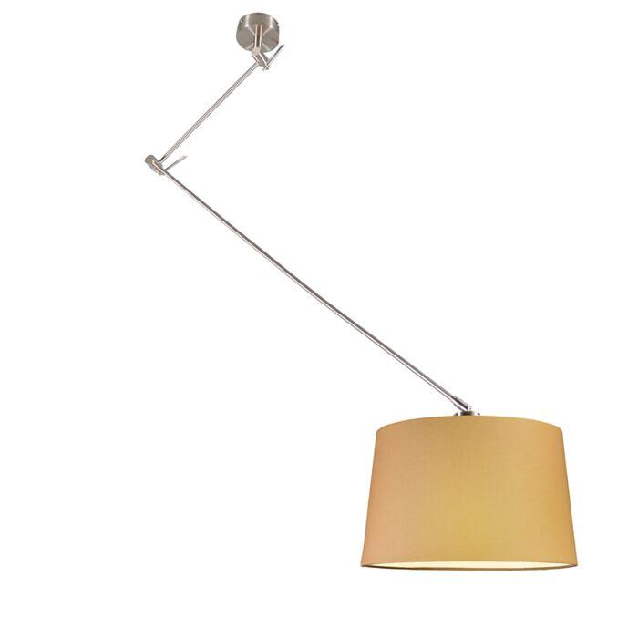 Pendant-Lamp-Blitz-Steel-with-Shade-Beige-40cm