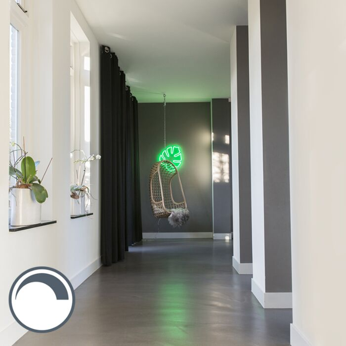 Wall-Lamp-Leaf-Neon-Green-Dimmable-with-Remote-Control