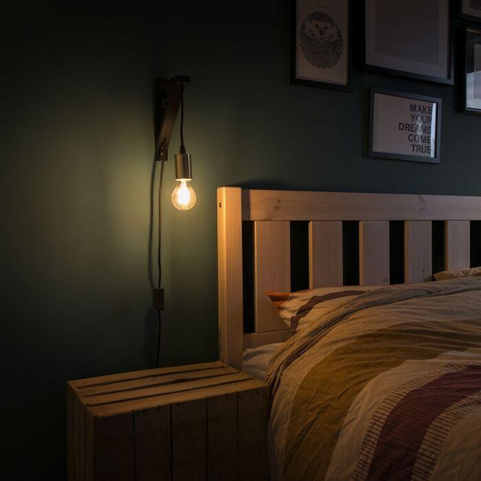 Wall-lamp-black-with-gold---hangman