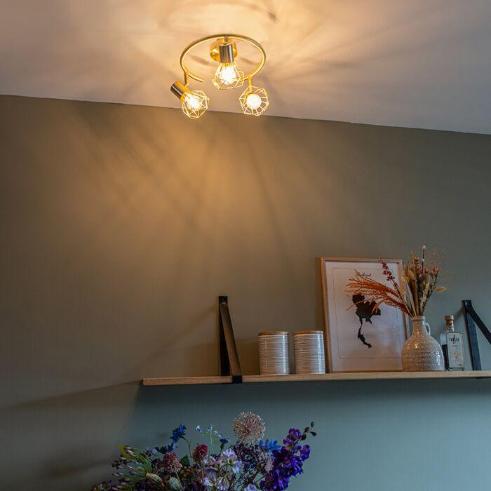 Art-Deco-Ceiling-Spotlight-Brass---Mosh-3