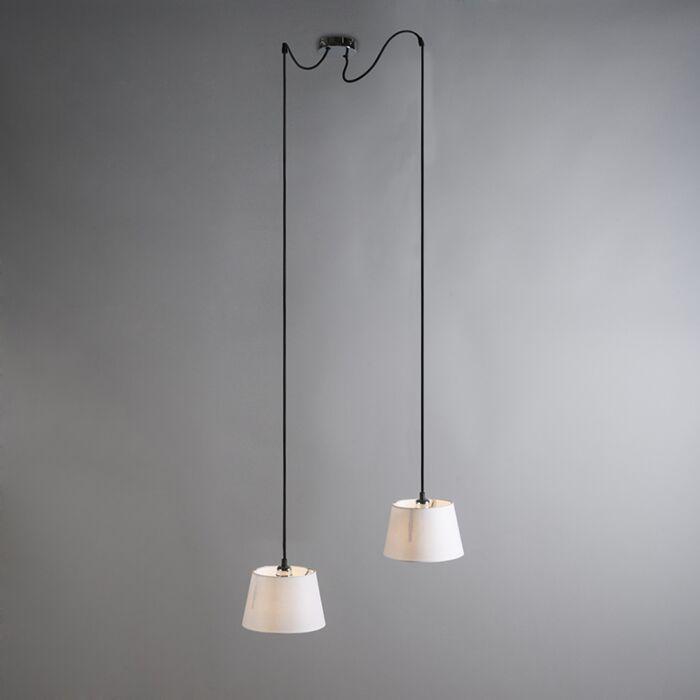 Pendant-Lamp-Cava-2-Chrome-with-White-Shades