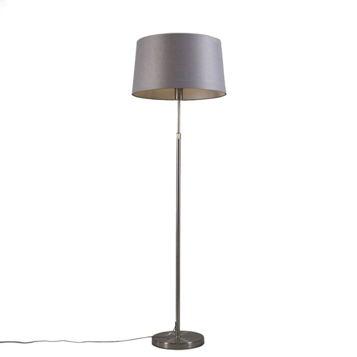 Floor-Lamp-Steel-with-45cm-Grey-Shade---Parte
