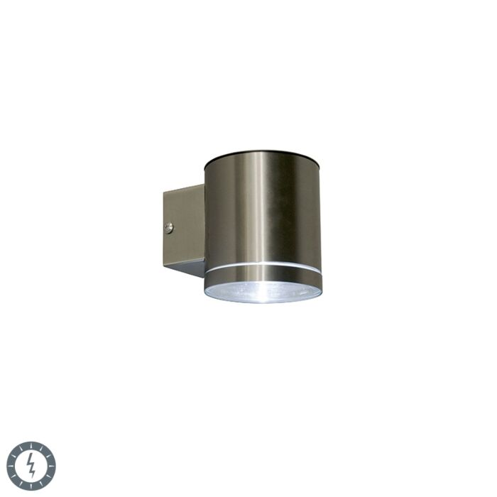 Outdoor-wall-lamp-steel-incl.-LED-IP44-solar---Eta