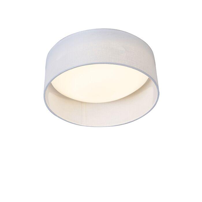 Ceiling-Lamp-White-28cm-incl.-LED---Drum-Combi