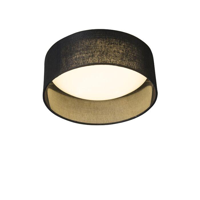 Ceiling-Lamp-Black-28cm-incl.-LED---Drum-Combi