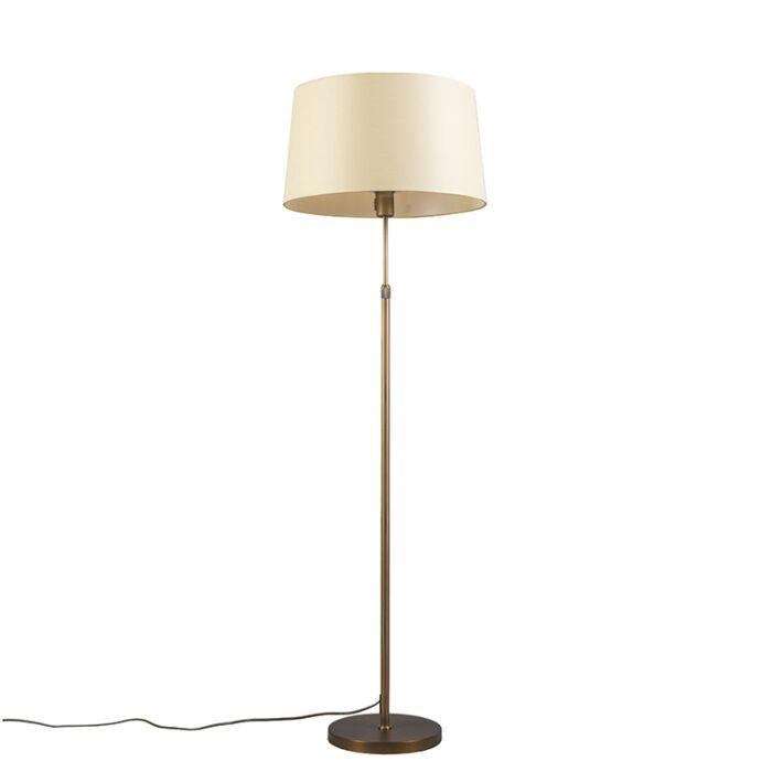 Bronze-floor-lamp-with-shade-yellow-45-cm-adjustable---Parte