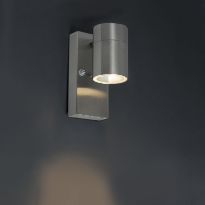Outdoor-Wall-Lamp-with-Twilight-Switch-Steel-IP44---Solo