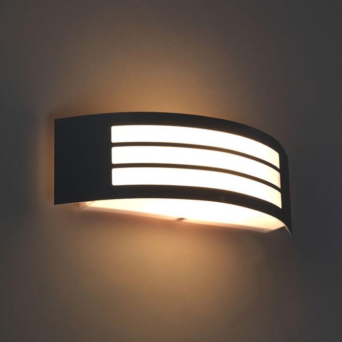 Modern-wall-lamp-dark-gray-IP44---Sapphire-Deluxe