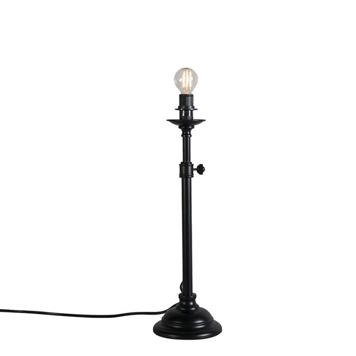 Classic-table-lamp-black-adjustable-without-shade---Accia