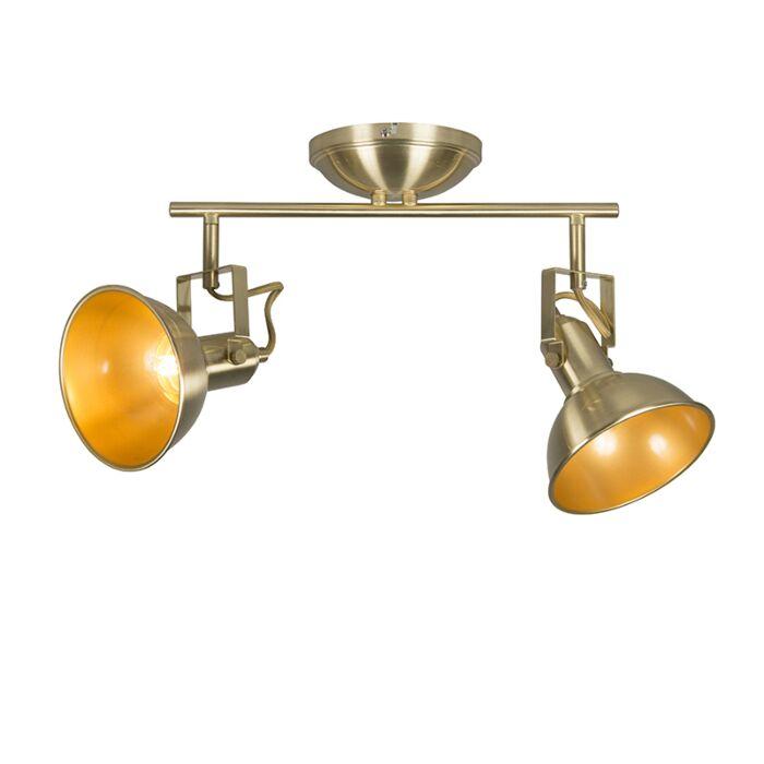 Ceiling-spot-gold-/-brass-2-light-swivel-and-tilt---Tommy
