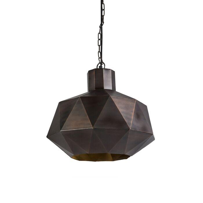 Art-Deco-hanging-lamp-copper---Trianga