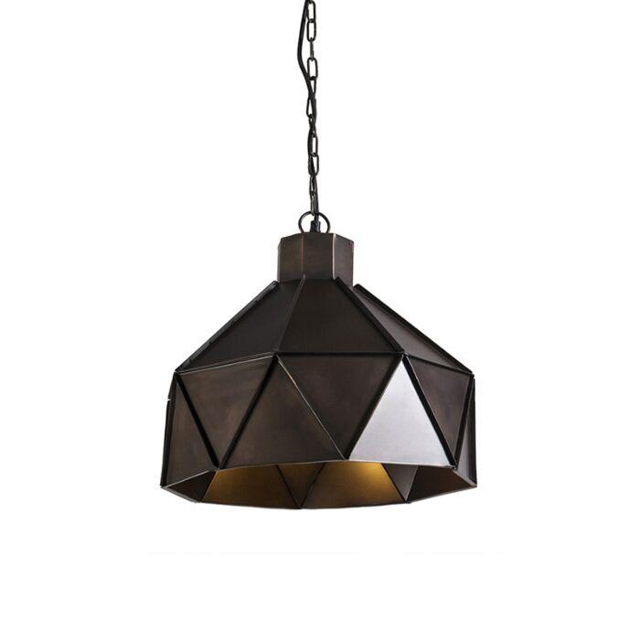 Art-Deco-hanging-lamp-copper---Triango