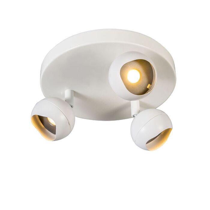 Spotlight-Globe-3-LED-Round-White-3000K