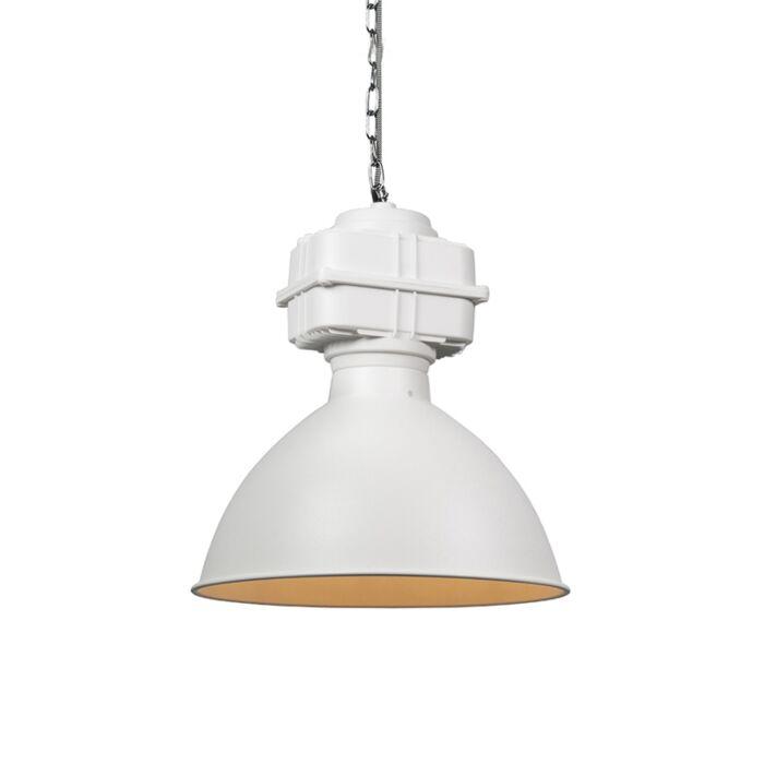 Industrial-hanging-lamp-small-matt-white---Sicko