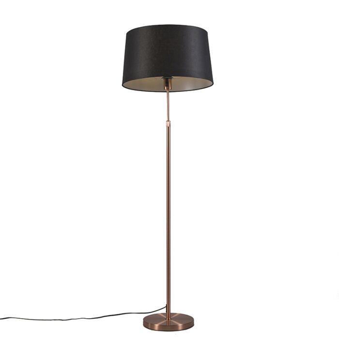 Copper-floor-lamp-with-shade-black-45-cm-adjustable---Parte